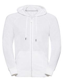 Men's HD Zipped Hood Sweat Russell - white