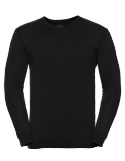 Men's V-Neck Knitted Pullover Russell - black