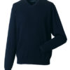 Men's V-Neck Knitted Pullover Russell - french navy