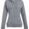 Women's Hoody Jacket Promodoro - sports grey