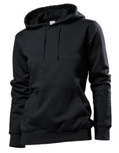 Hooded Women Sweatshirt Stedman - black opal