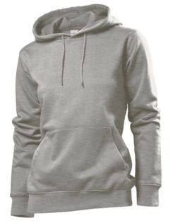 Hooded Women Sweatshirt Stedman - grey heather