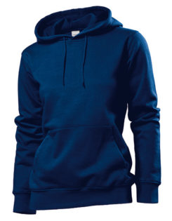 Hooded Women Sweatshirt Stedman - navy