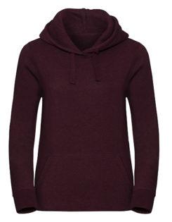 Ladies' Authentic Melange Hooded Sweat Russell - burgundy melange