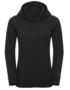 Ladies' Authentic Melange Hooded Sweat Russell - charcoal melange