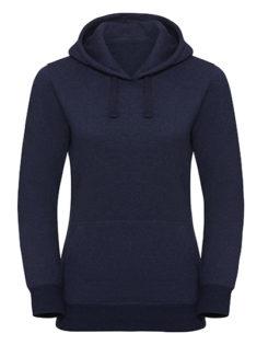 Ladies' Authentic Melange Hooded Sweat Russell - indigo melange