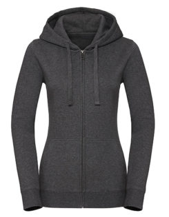 Ladies' Authentic Melange Zipped Hood Sweat Russell - carbon melange