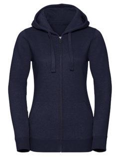 Ladies' Authentic Melange Zipped Hood Sweat Russell - indigo melange