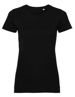 Ladies' Authentic Tee Pure Organic Russell - black