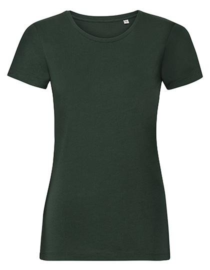 Ladies' Authentic Tee Pure Organic Russell - bottle green