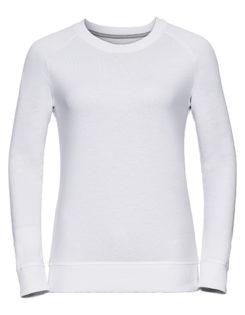 Ladies' HD Raglan Sweat Russell - white
