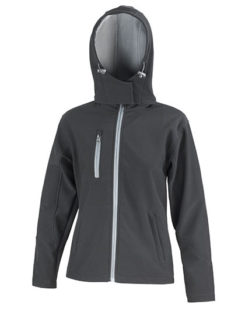 Ladies' TX Performance Hooded Softshell Jacket Result - black grey