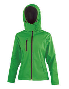 Ladies' TX Performance Hooded Softshell Jacket Result - vivid green black