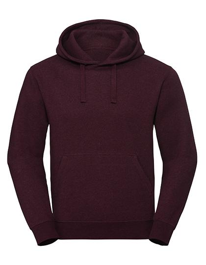 Men's Authentic Melange Hooded Sweat Russell - burgundy melange