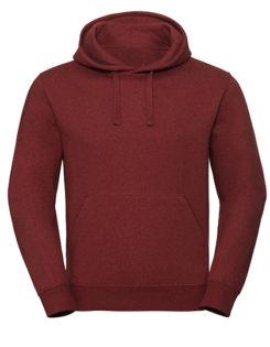 Men's Authentic Melange Hooded Sweat Russell - red melange