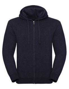 Men's Authentic Melange Zipped Hood Sweat Russell - indigo melange