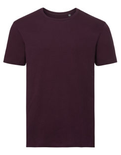 Men's Authentic Tee Pure Organic Russell - burgundy