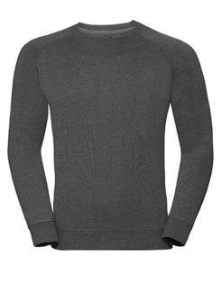 Men's HD Raglan Sweat Russell - grey marl