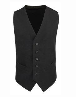 Men's Lined Polyester Waistcoat Premier - black