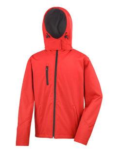 Men's TX Performance Hooded Soft Jacket Result - red black