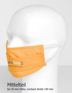 Mundnasenmaske - Druckmöglichkeit Mittelteil