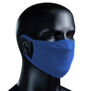 BIO Stoffmaske azurblau - azurblau