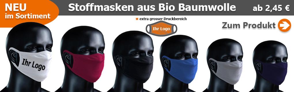 BIO Stoffmasken mit Logo