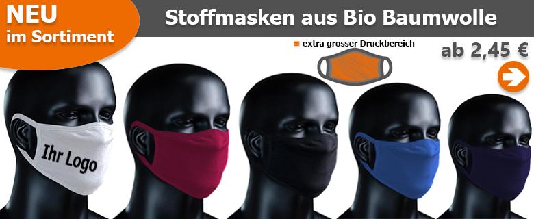Mundschutz mit eigenem Logo