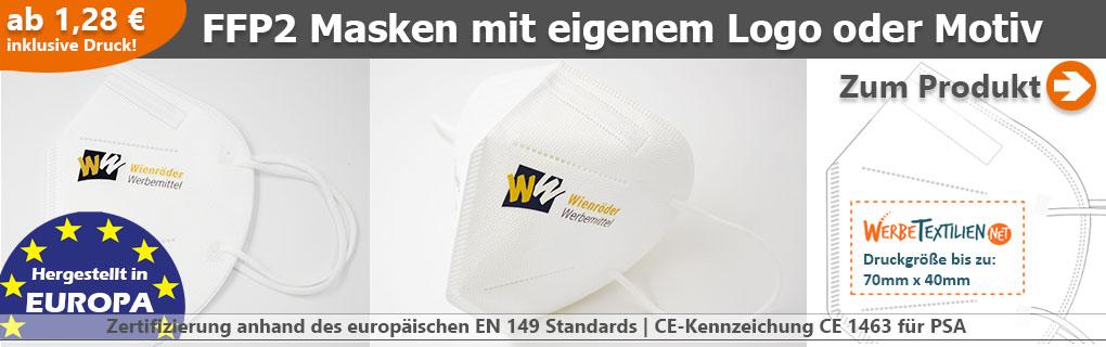 FFP2 Masken mit eigenem Logo