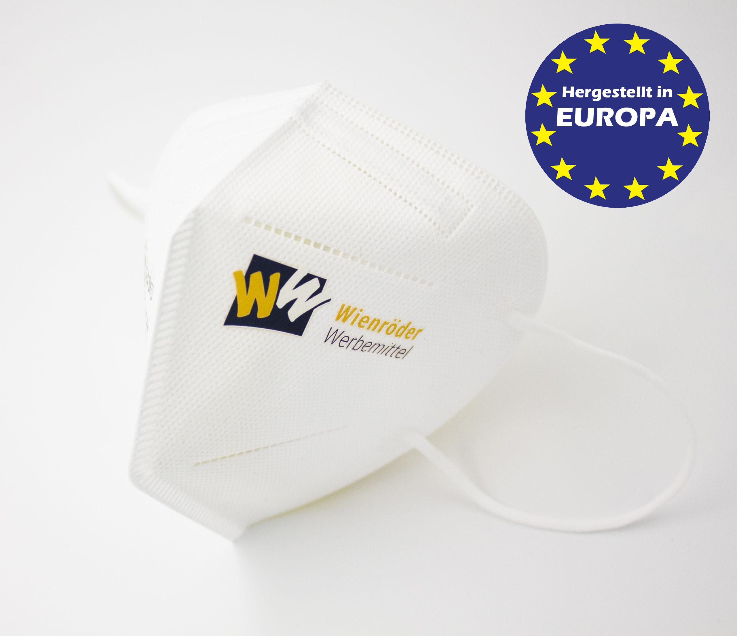 Weisse FFP2 Masken mit Logo